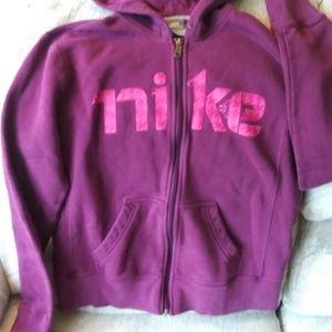Hooded/zippered sweat jacket